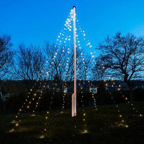 Sirius Lichterkette David Fahnenmast 360 LED warmweiß 10 x 7m grün