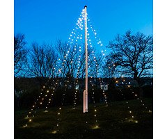 Sirius Lichterkette David Fahnenmast 360 LED warmweiß 10 x 7m grün