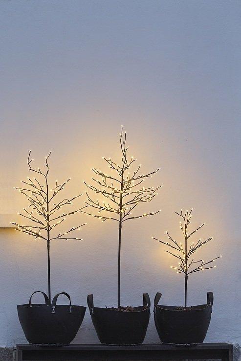 Sirius LED Baum Noah 80 LED warmweiß außen 110 cm braun - Pic 2