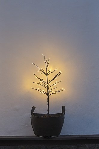 Sirius LED Baum Noah 80 LED warmweiß außen 110 cm braun
