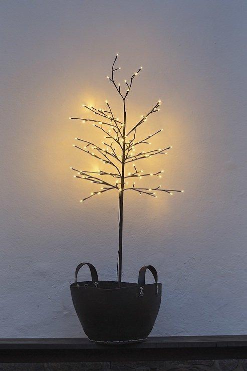 Sirius LED Baum Noah 160 LED warmweiß außen 150 cm braun - Pic 1