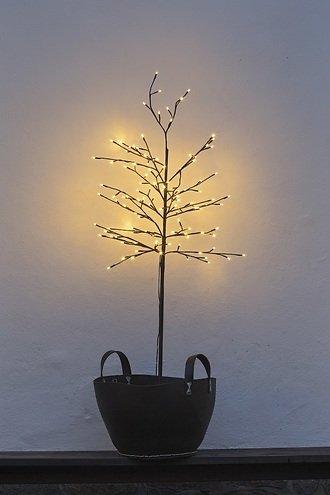 Sirius LED Baum Noah 160 LED warmweiß außen 150 cm braun