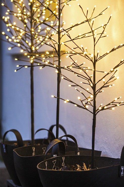 Sirius LED Baum Noah 160 LED warmweiß außen 150 cm braun - Pic 3