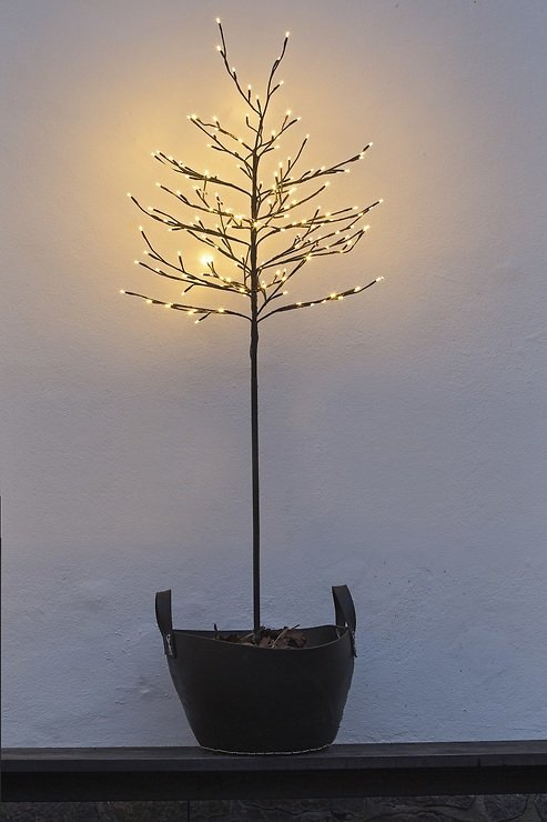 Sirius LED Baum Noah 280 LED warmweiß außen 180 cm braun - Pic 1