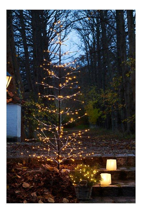 Sirius LED Baum Isaac Tree 228 LED warmweiß außen 160 cm braun beschneit - Pic 1
