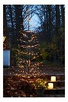 Sirius LED Baum Isaac Tree 228 LED warmweiß außen 160 cm braun beschneit