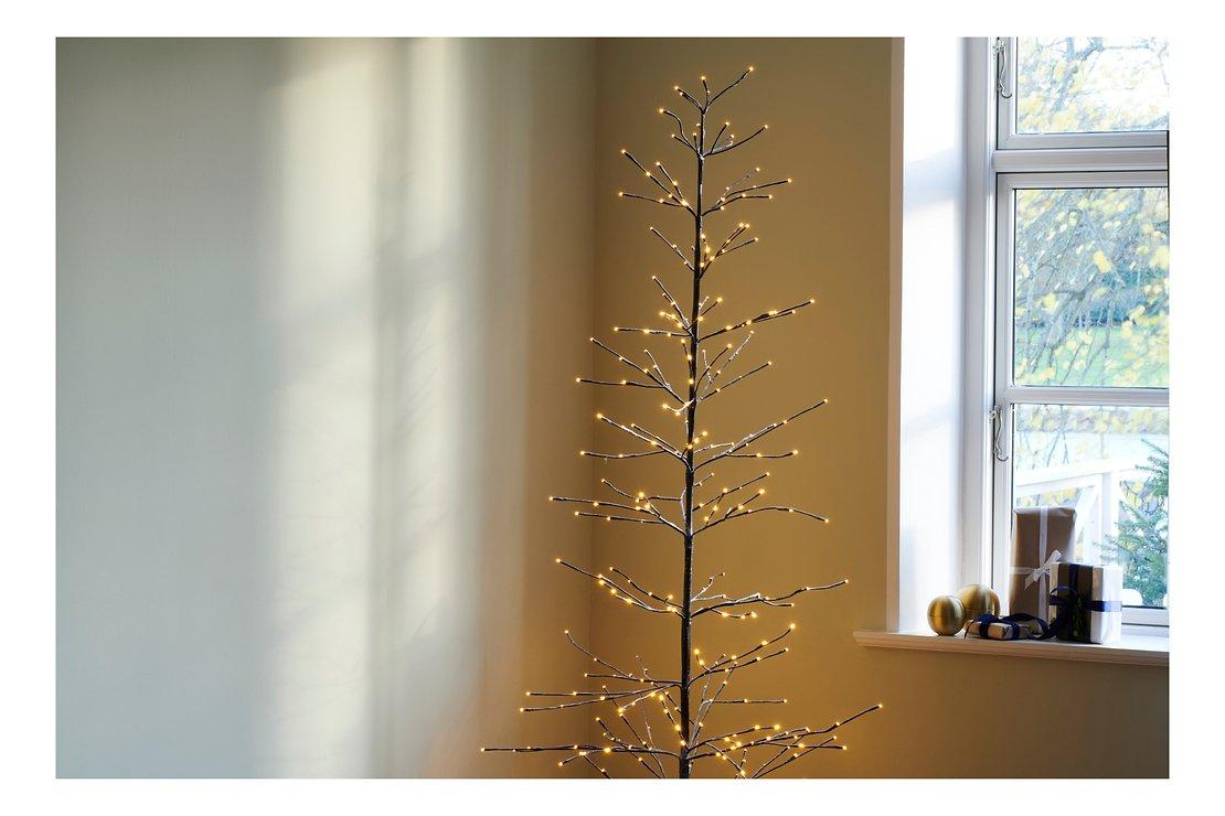 Sirius LED Baum Isaac Tree 228 LED warmweiß außen 160 cm braun beschneit - Pic 2