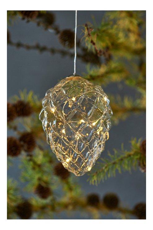 Sirius LED Tannenzapfen Celina Cone 10 LED 13 cm Glas klar - Pic 1