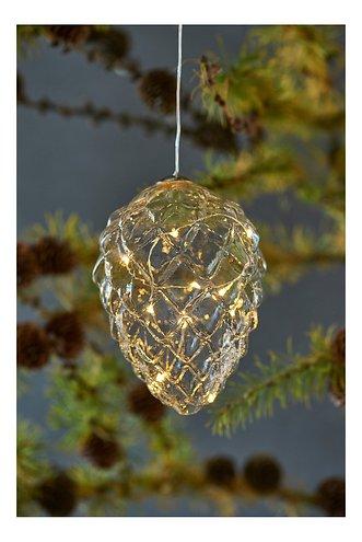 Sirius LED Tannenzapfen Celina Cone 10 LED 13 cm Glas klar