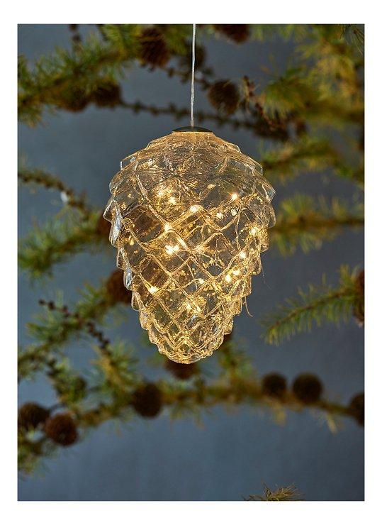 Sirius LED Tannenzapfen Celina Cone 16 LED 17 cm Glas klar - Pic 1