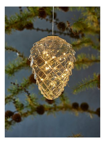 Sirius LED Tannenzapfen Celina Cone 16 LED 17 cm Glas klar