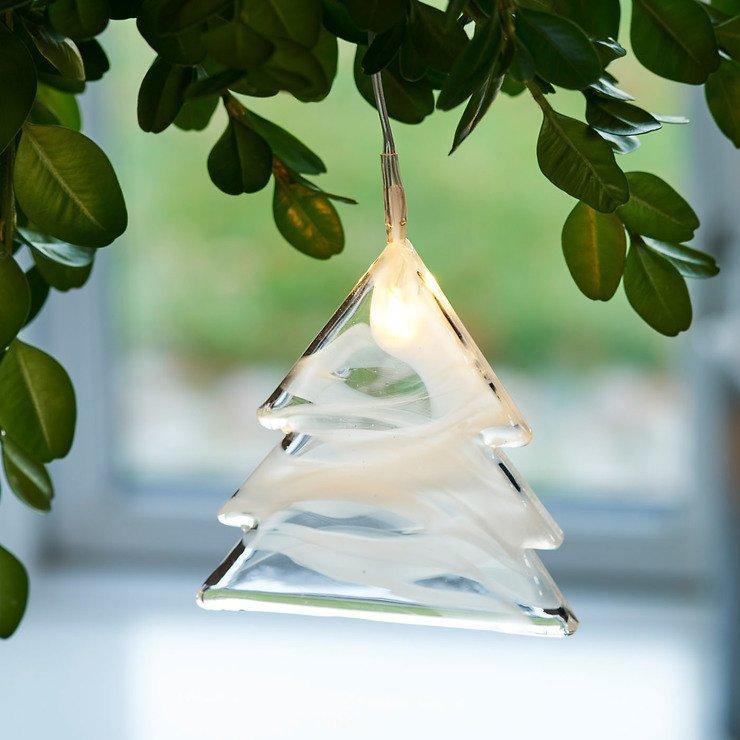 Sirius Leuchtanhänger Agnes Tree Glas 8,3cm 1 LED - Pic 1