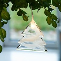 Sirius Leuchtanhänger Agnes Tree Glas 8,3cm 1 LED