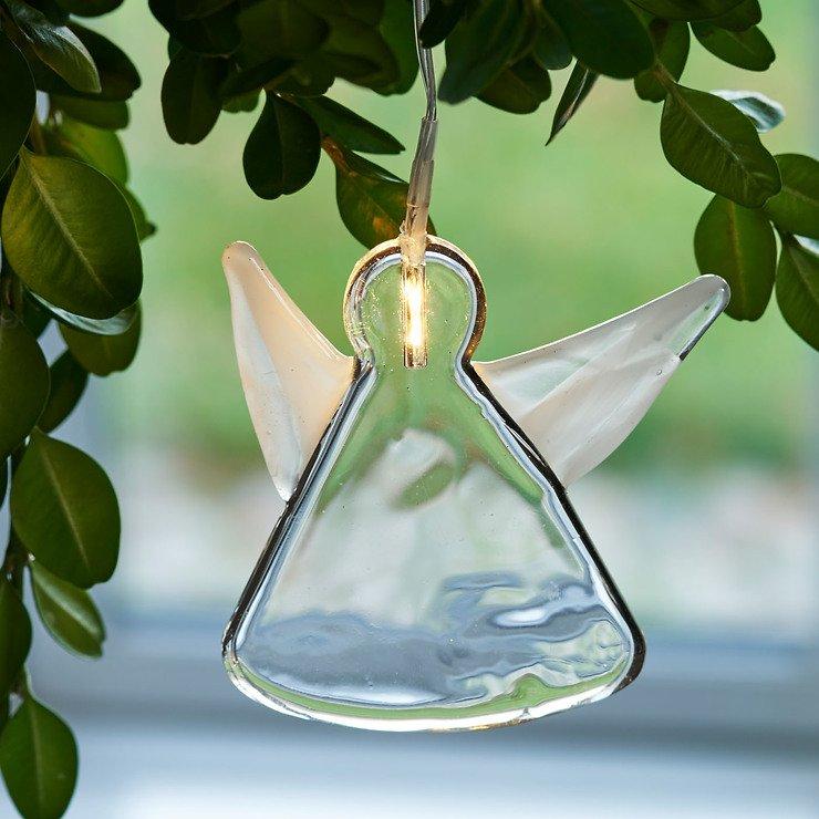 Sirius Leuchtanhänger Agnes Angel Glas 8,5cm 1 LED - Pic 1