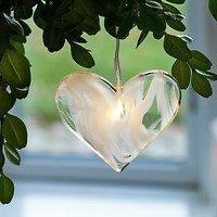 Sirius Leuchtanhänger Agnes Heart Glas 6,5cm 1 LED