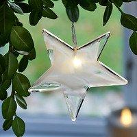 Sirius Leuchtanhänger Agnes Star Glas 10cm 1 LED