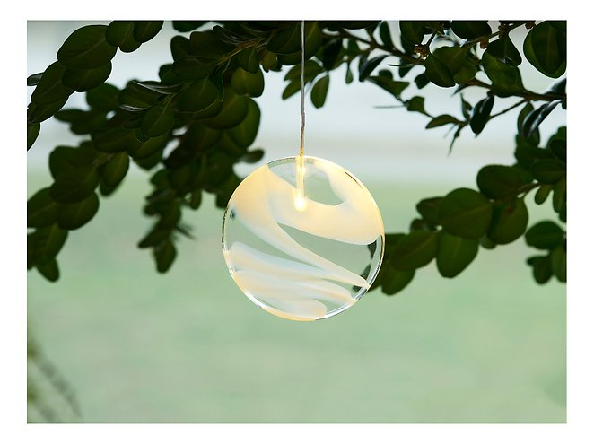 Sirius Leuchtanhänger Agnes Round Glas 10cm 1 LED