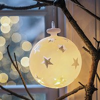 Sirius Leuchtkugel Vega Sterne batteriebetrieben 14 LED 15cm weiß