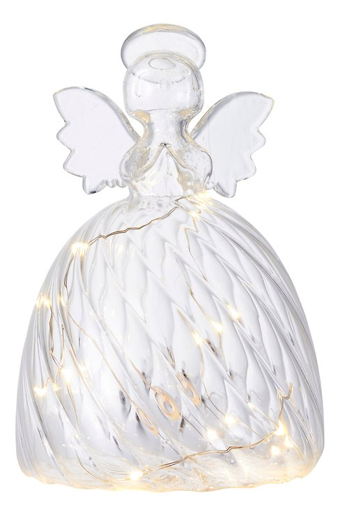 Sirius Leuchtengel Wave Angel 10 LED 15 cm Glas klar - Pic 2