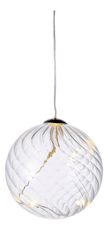 Sirius Leuchtkugel Wave Ball 7,5 cm batteriebetrieben 10 LED Glas klar - Pic 2