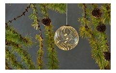Sirius Leuchtkugel Wave Ball 7,5 cm batteriebetrieben 10 LED Glas klar