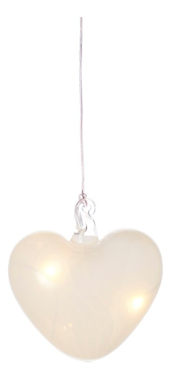 Sirius LED Leuchtherz Heaven Heart 8 cm Batterie 5 LED Glas weiß - Pic 2