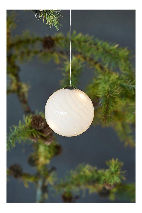 Sirius Leuchtkugel Heaven Ball 7,5 cm batteriebetrieben 10 LED Glas weiß - Pic 1