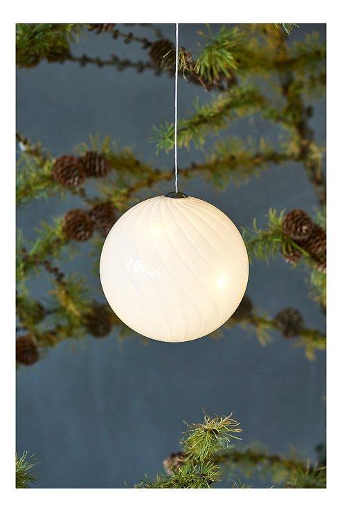 Sirius Leuchtkugel Heaven Ball 10 cm batteriebetrieben 8 LED Glas weiß - Pic 1