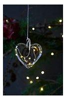 Sirius LED Leuchtherz Rebecca Heart 8 cm Batterie 5 LED Glas weiß