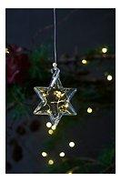 Sirius LED Leuchtstern Rebecca Star 8 cm Batterie 5 LED Glas klar