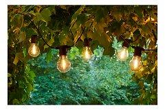 Sirius Lichterkette Tobias Starter Set 10 LED Glas klar außen 4,5 m schwarz