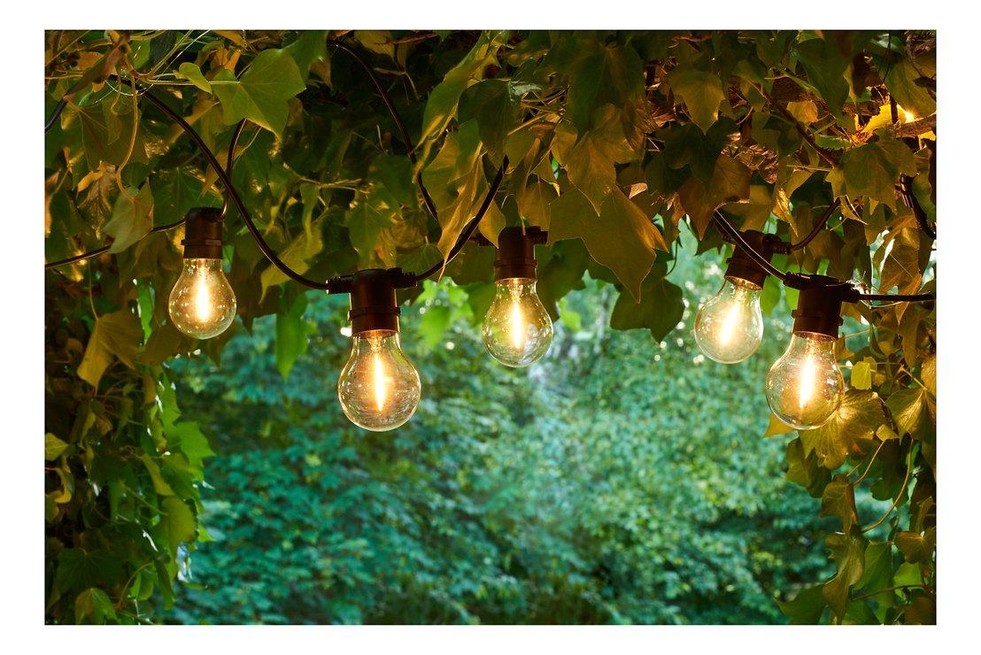 Sirius Lichterkette Tobias Erweiterung 10 LED Glas klar außen 4,5 m schwarz - Pic 1