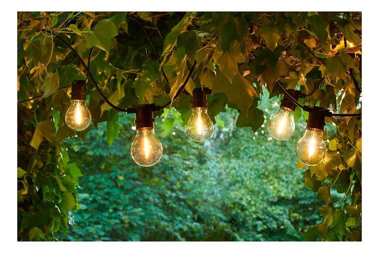 Sirius Lichterkette Tobias Erweiterung 10 LED Glas klar außen 4,5 m schwarz