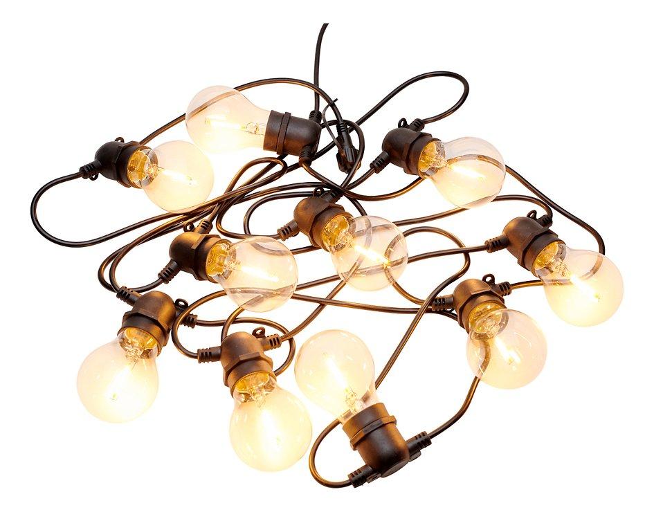 Sirius Lichterkette Tobias Erweiterung 10 LED Glas klar außen 4,5 m schwarz - Pic 3