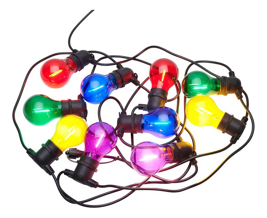 Sirius Lichterkette Tobias Starter Set 10 LED Glas bunt außen 4,5 m schwarz - Pic 2