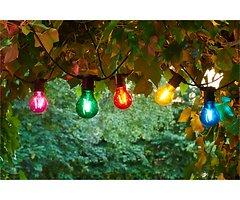 Sirius Lichterkette Tobias Starter Set 10 LED Glas bunt außen 4,5 m schwarz