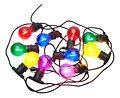 Sirius Lichterkette Tobias Erweiterung 10 LED Glas bunt außen 4,5 m schwarz - Thumbnail 2