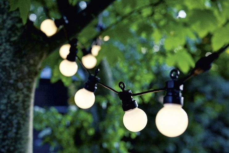 Sirius Lichterkette Lucas Starter Set 10 LED frosted außen 3m schwarz