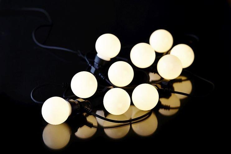 Sirius Lichterkette Lucas Ergänzung 10 LED frosted außen 3m schwarz