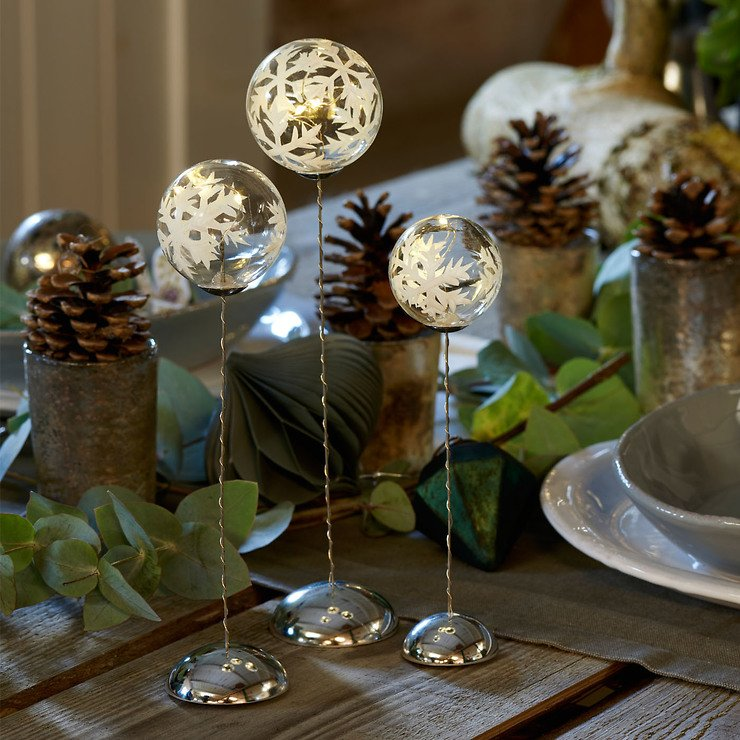 Sirius Leuchtkugel Snowflake Trio batteriebetrieben 2/3/4 LED klar - Pic 2