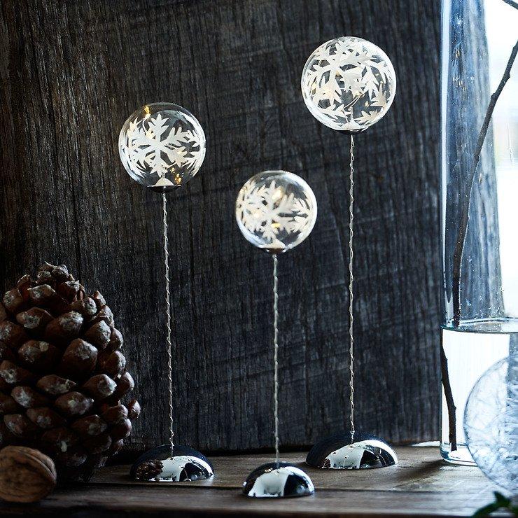 Sirius Leuchtkugel Snowflake Trio batteriebetrieben 2/3/4 LED klar - Pic 1