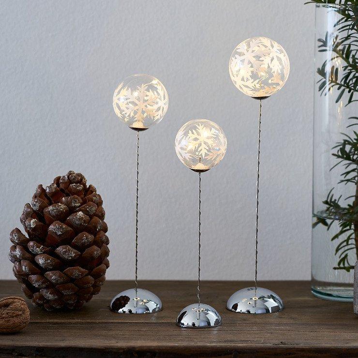 Sirius Leuchtkugel Snowflake Trio batteriebetrieben 2/3/4 LED klar - Pic 3