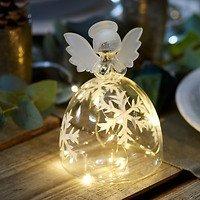 Sirius LED Engel Snowflake Angel 10 LED batteriebetrieben 15cm klar