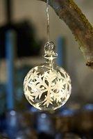 Sirius Leuchtkugel Snowflake Ball batteriebetrieben 5 LED 7,5cm klar