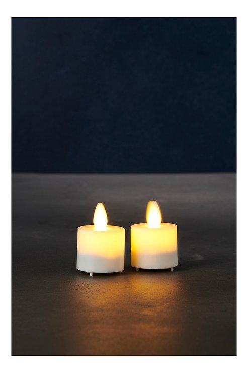 Sirius LED Teelicht Sara Exclusive 2er Set Batterie Timer weiß - Pic 1