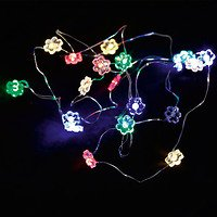 Sirius Lichterkette Pusle Blume bunt 20 LED batteriebetrieben innen1,9m
