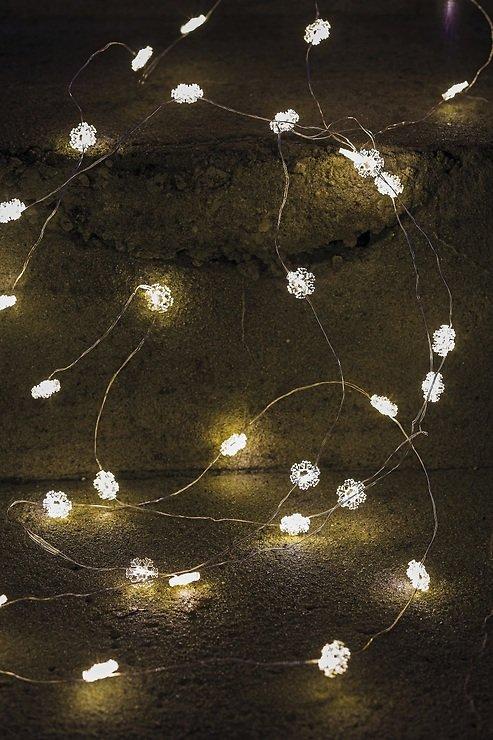 Sirius Lichterkette Nynne 40 LED Schneeflocken batteriebetrieben innen 3,9m - Pic 1