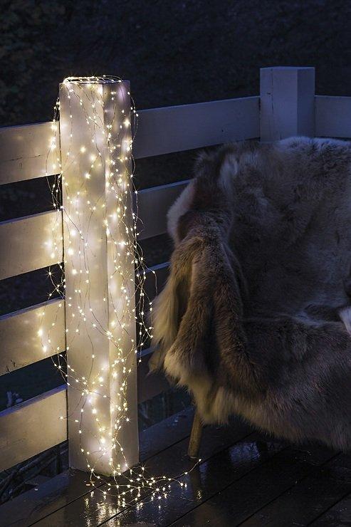 Sirius Lichterkette Knirke 350 LED an Metallsträngen außen 15 x 2,7m silber - Pic 1