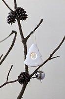 Sirius LED Leuchtanhänger Olina Christmas Tree 8cm Keramik weiß