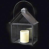 Sirius Laterne Aura inkl. LED Kerze 30 cm innen Metall schwarz